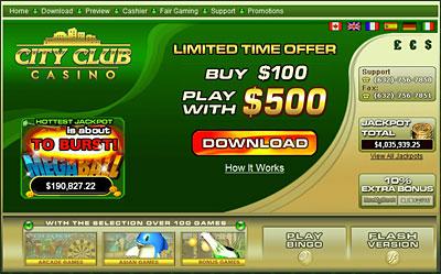 online casino city club
